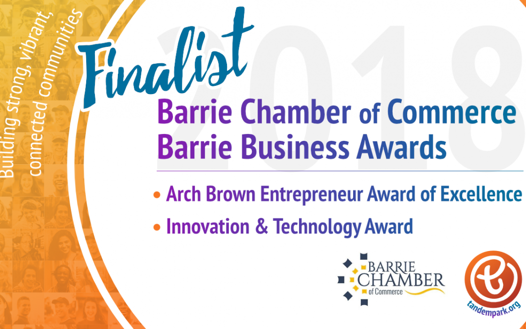 Tandempark and founder named finalists for Two Barrie Business Awards