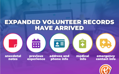 Tandempark's expanded volunteer records have arrived!